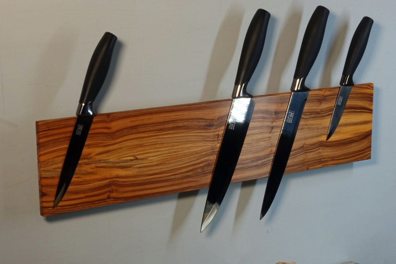 Magnetic Knife Rack in Yew